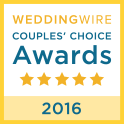 Wedding Wire Couples' Choice Award 2016