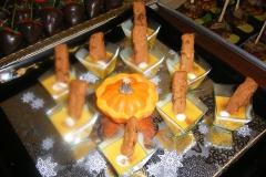Curried Pumpkin Soup with Apple-Pecan Shortbread Cookies