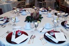 Plated Christmas Dinner Table Setting