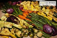 Grilled Vegetable Display