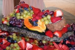 Seasonal fruit on chilled granite slab
