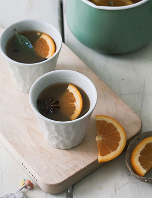 Bourbon Mulled Cider
