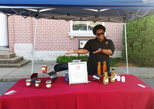 STF Farmer's Market booth
